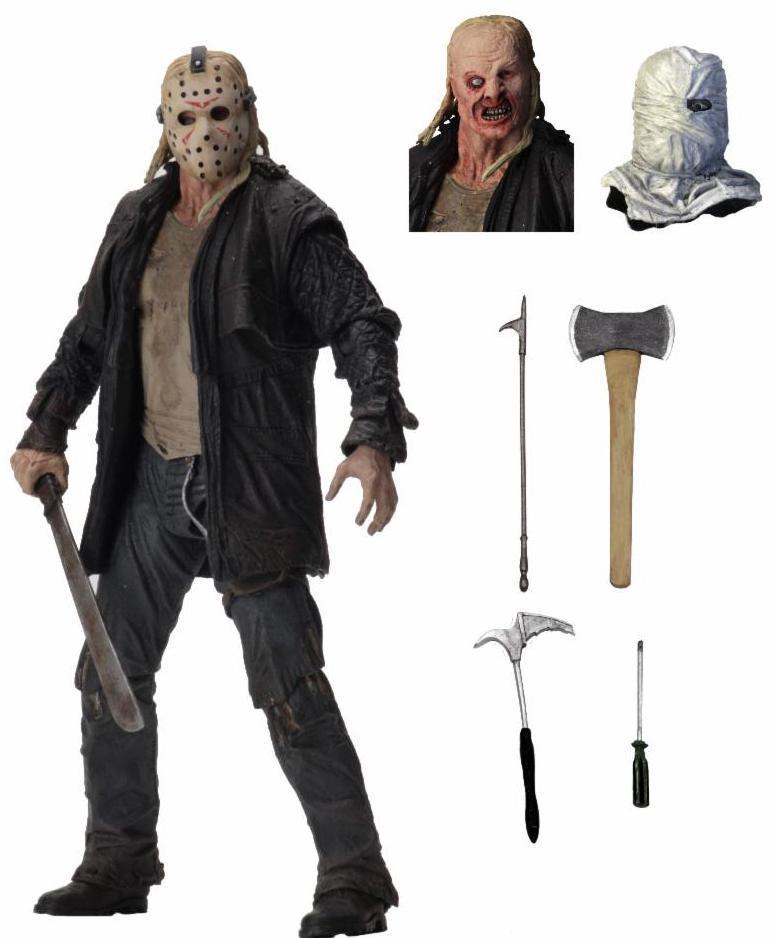 NECA 3D friday The 13th Jason tête de cuir tronçonneuse mandrky Michael Myers Freddy Krueger IT Pennywise Joker figurine jouet poupée