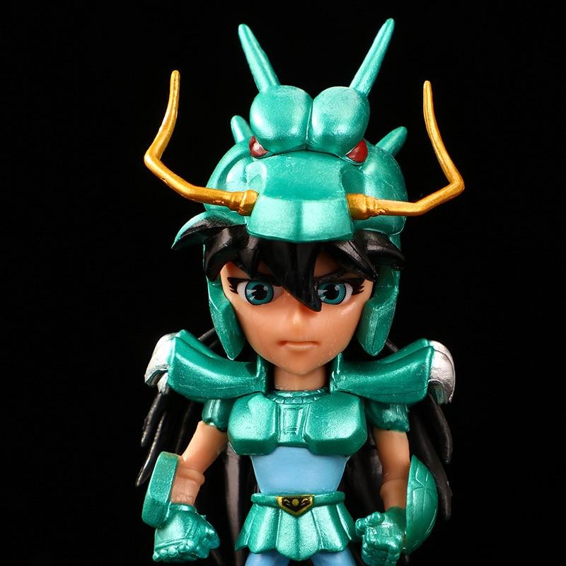5 pièces/ensemble dessin animé Saint Seiya chevaliers du zodiaque Figurine en PVC Figurine modèle à collectionner