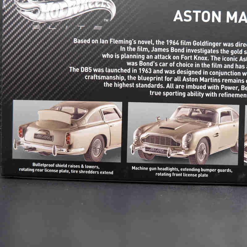 Hotwheel 1:18 édition Aston-Martins DB5 Goldfinger 007 JAME BONDs BLY20 modèle de voiture moulé sous pression jouet cadeau avec boîte d'origine