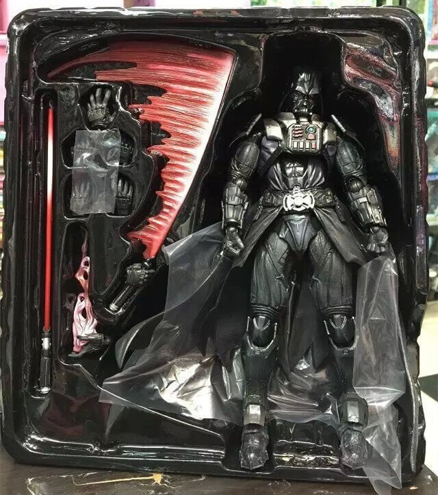 Hasbro Star Wars figurines d'anime modèle dark vador PVC jouer Art Kais modèle jouets Action figurales à collectionner Anakin Skywalker 28cm