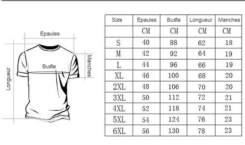 taille t-shirt Marvel Design