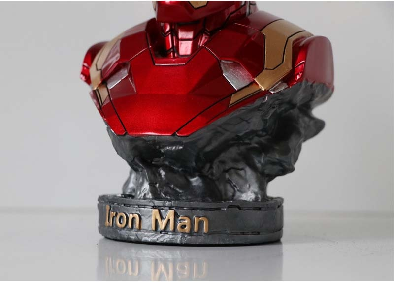 Marvel – figurines d'action Avengers Iron Man MK46, jouets poupées buste