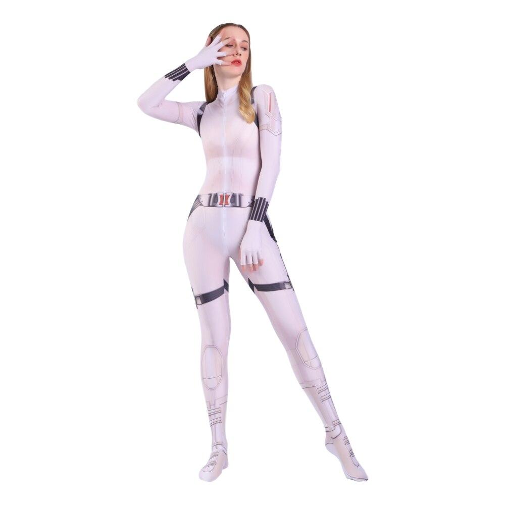 Costume de Cosplay noir pour femmes, Costume pour filles Geek, Zentai, body Sexy blanc pour adultes/enfants