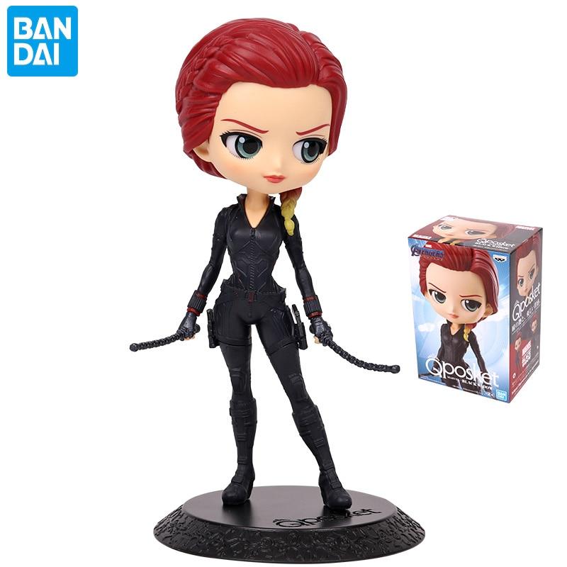 Bandai – figurines de Collection Banpresto, Qposket, Marvel, les Avengers, fenêtre noire, Natalia Alianovna Romanova, jouets pour enfants