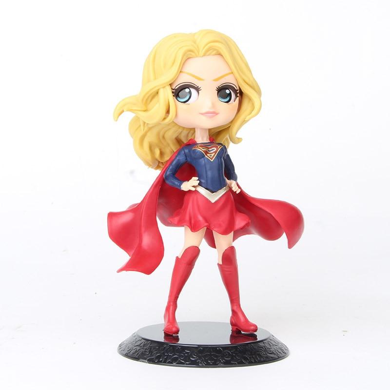 Figurines de la collection des super-héros de Q posket pour enfant, poupées PVC de dessin animé avec Wonder Woman, Harley Quinn, Joker, jouets