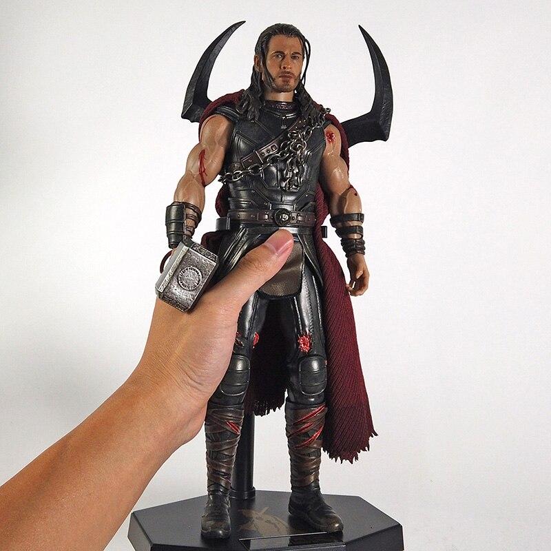 Figurine Thor Ragnarok modèle statue en PVC,jouet motif super héros, échelle 1/6, crazy toys,