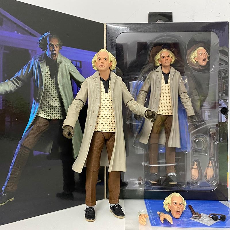 DOC Brown martin McFly – figurine de guitare, pour les oreilles, Neca Back To The Future, ii almanch sportif, Biff, tanen Ultimate, 1985, 2015