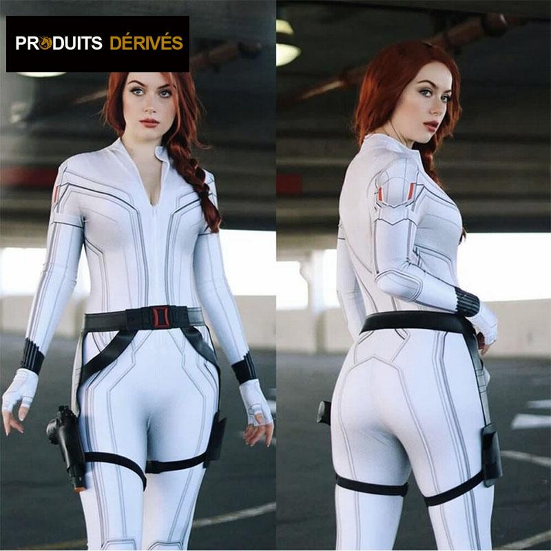 Costume black Widow blanc