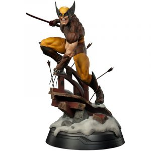 Statuette Wolverine Brown