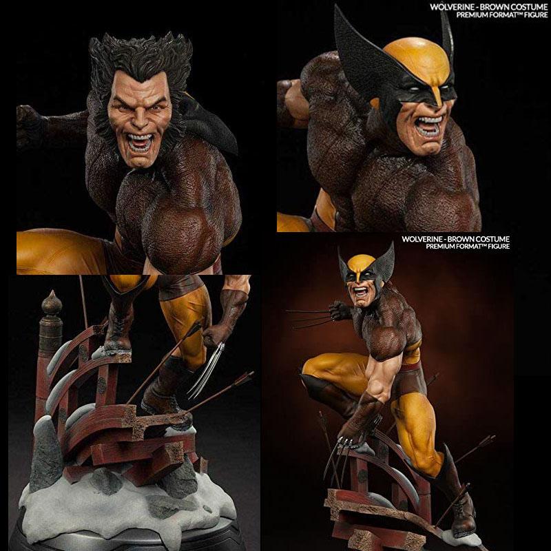 Statuette Wolverine marron
