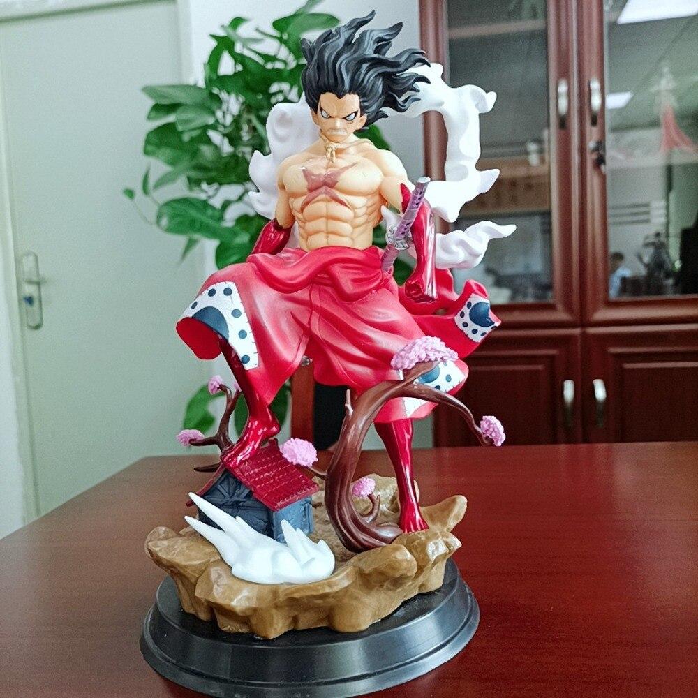 Wano – Kimono Luffy Gear 4 serpent, Anime One Piece GK – figurine de collection en PVC, singe D Luffy, modèle, jouets, poupée